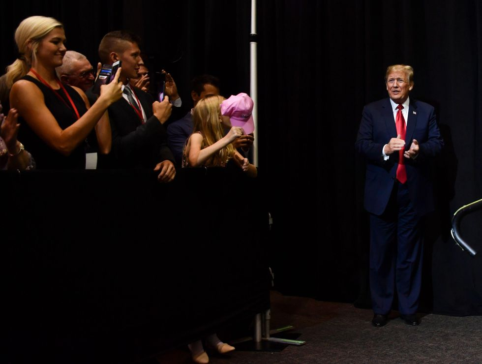 Donald Trump at fundraiser