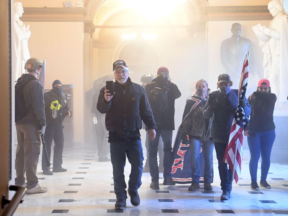 tear gas in the Capitol