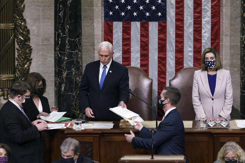 Vice President Pence leads certification of election