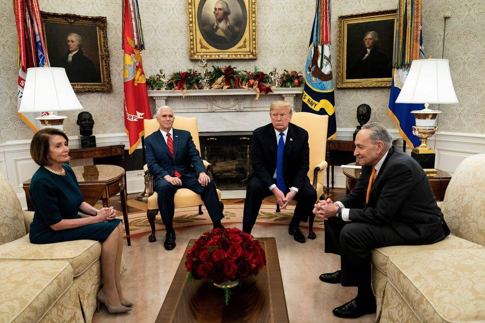 Nancy Pelosi, Mike Pence, Donald Trump, Chuck Schumer