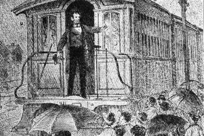 Abraham Lincoln whistlestop train tour