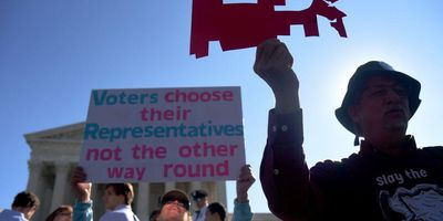 Anti-gerrymandering protest at the Supreme Court